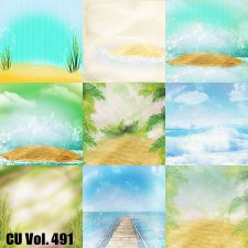 CU Vol 491 Beach Summer Papers by Lemur Designs