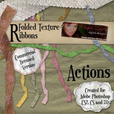 Folded Texture Ribbons by Monica Larsen