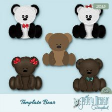 Template Bear pathy Design