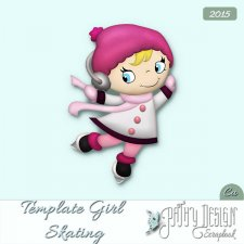 Template Girl Skating Pathy Design