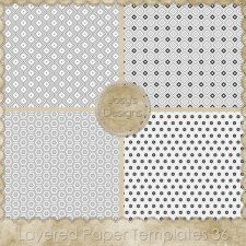 Layered Paper TEMPLATES 36 by Josy