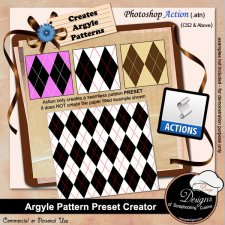 Argyle Pattern Preset Creator ACTION by Boop Designs