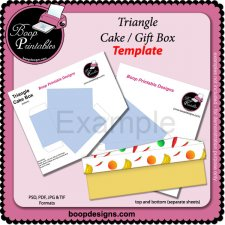 Triangle Cake Box TEMPLATEby Boop Printable Designs