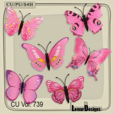 CU Vol 739 Butterflies by Lemur Designs