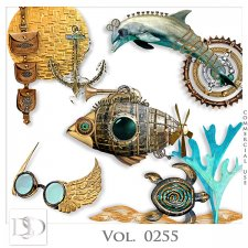 Vol. 0255 Steampunk Sea Mix by D's Design