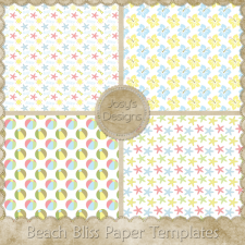 Beach Bliss Paper Layered Templates by Josy
