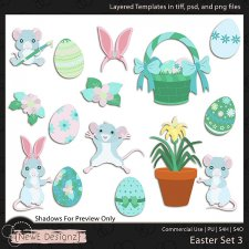 EXCLUSIVE Layered Easter Templates Set3 by NewE Designz