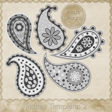 Paisley Layered Templates 2 by Josy
