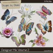 Butterfly & Flowers Mixed Pack - EXCLUSIVE Designs by Ohana