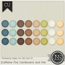 Caffeine Fix Cardboard and Felt PS Styles by Just So Scrappy