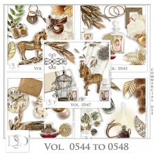 Vol. 0544 to 0548 Vintage Mix by D's Design