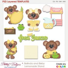 Belinda & Bixby Lemonade Stand Layered Element Templates