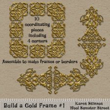 Build a Gold Frame #1 by Karen Stimson