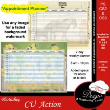 Appointment Planner ACTION by Boop Designs
