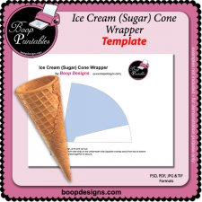 Ice Cream Sugar Cone Wrapper by Boop Printable Designs