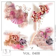 Vol. 0408 Floral Accents by D's Design