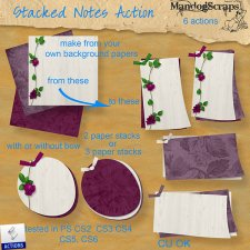 Stacked Notes Action by Mandog Scraps