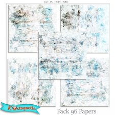 Pack 96 papers by Kastagnette