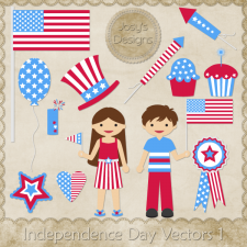 Independence Day Layered Vector Templates by Josy