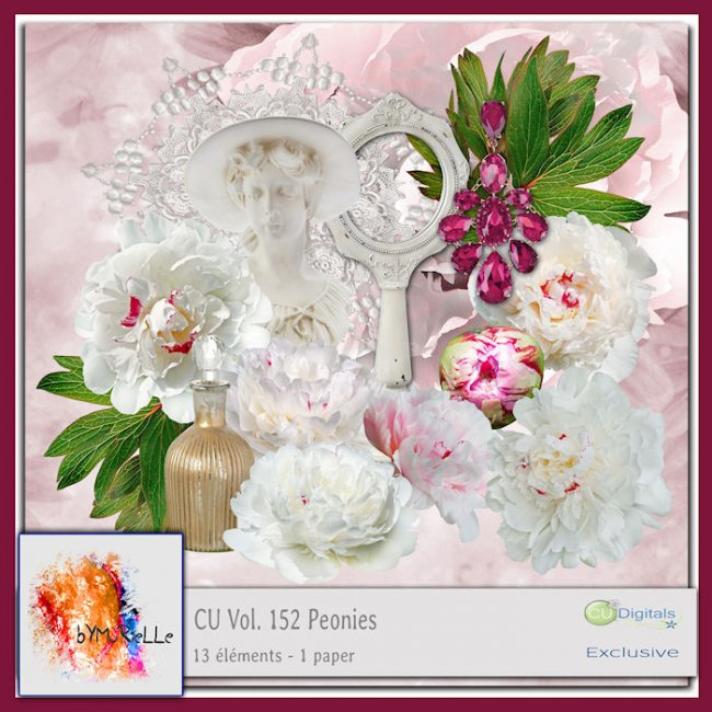 Vol 152 Peonies Elements EXCLUSIVE bymurielle