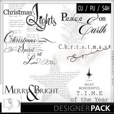 Christmas Word Arts Vol 04 by D's Design