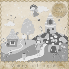 Whimsy Land Layered Templates by Josy