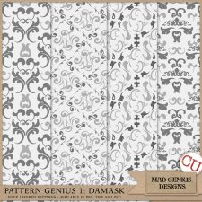Pattern Genius Paper Volume One by Mad Genius Designs