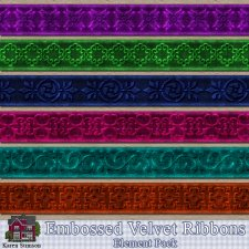 Embossed Velvet Ribbon Pack by Karen Stimson