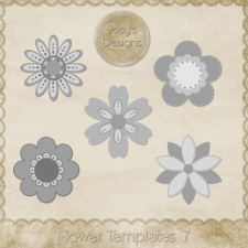 Flower Layered Templates 7 by Josy