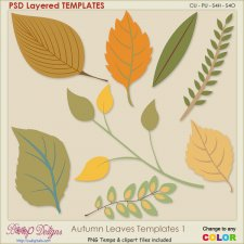Autumn Leaves 01 Layered TEMPLATES