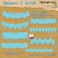 Banners 2 Action by Mandog Scraps