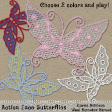 Action Lace Butterflies by Karen Stimson