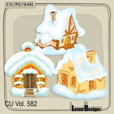 CU Vol 582 Winter Houses by Lemur Designs