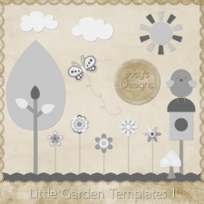 Little Garden Layered Templates 1 by Josy