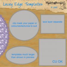 Lacey Edge Templates by Mandog Scraps