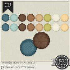 Caffeine Fix Embossed PS Styles by Just So Scrappy