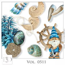 Vol. 0511 to 0514 Summer Sea Mix by D's Design