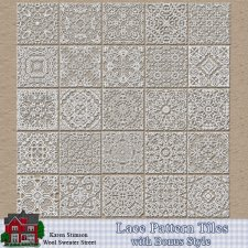 Lace Pattern Tiles by Karen Stimson