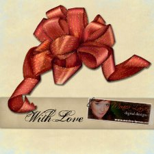 Gift Bow - With Love - action by Monica Larsen