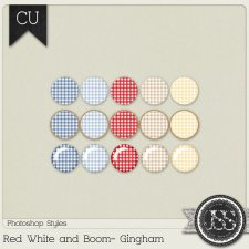 Red White and Boom Gingham PS Styles by Just So Scrappy