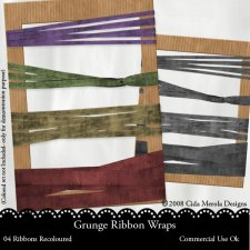 Grunge Ribbon Wraps by Cida Merola