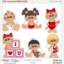 Cupid Love Chubbies Layered Element Templates