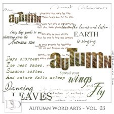 Autumn Word Arts Vol 03 by D's Design