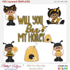 Will You Be My Honey Layered Element Templates