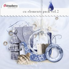 Blue Nautical Element Mix Vol 2 by Strawberry Designs