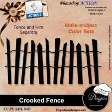 Crooked Fence ACTION by Boop Designs