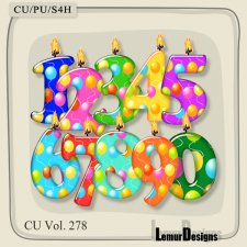 CU Vol 278 Numbers Candles by Lemur Designs