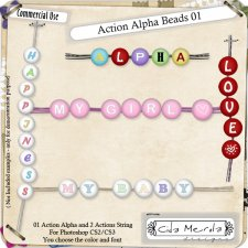 Alpha Beads 01 Action by Cida Merola