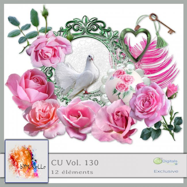 vol 130 Pink Roses Elements EXCLUSIVE bymurielle
