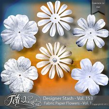 Designer Stash Vol 153 - Fabric Paper Flowers Vol 1 by Feli Designs